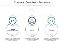 Customer Complaints Procedure Ppt Powerpoint Presentation Infographics Slide Cpb