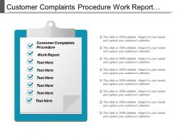 Customer Complaints Procedure Work Report Customer Segmentation Marketing Cpb