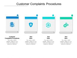 Customer Complaints Procedures Ppt Powerpoint Presentation Gallery Structure Cpb