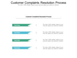 Customer Complaints Resolution Process Ppt Powerpoint Presentation Infographics Good Cpb