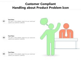 Customer Compliant Handling About Product Problem Icon