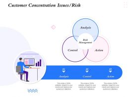 Customer Concentration Issues Risk Analysis Action Ppt Powerpoint Presentation Examples