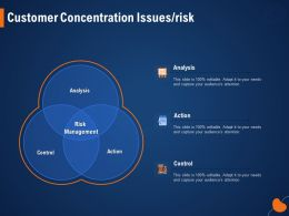 Customer Concentration Issues Risk Control Ppt Powerpoint Presentation Pictures Background Images