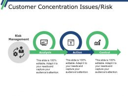 Customer Concentration Issues Risk Powerpoint Slide Template