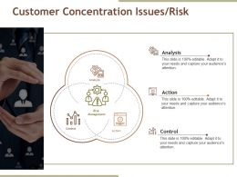 Customer Concentration Issues Risk Presentation Powerpoint