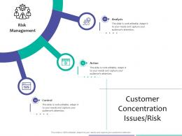 Customer Concentration Issues Risk Strategic Due Diligence Ppt Powerpoint Ideas