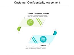 Customer Confidentiality Agreement Powerpoint Presentation Professional Portfolio Cpb