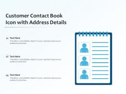 Customer Contact Book Icon With Address Details