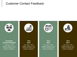 Customer Contact Feedback Ppt Powerpoint Presentation Gallery Guide Cpb
