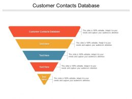 Customer Contacts Database Ppt Powerpoint Presentation Portfolio Background Cpb