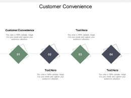 Customer Convenience Ppt Powerpoint Presentation Outline Graphics Template Cpb