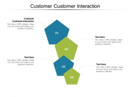 Customer Customer Interaction Ppt Powerpoint Presentation Icon Guide Cpb