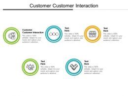 Customer Customer Interaction Ppt Powerpoint Presentation Styles Maker Cpb