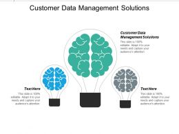 Customer Data Management Solutions Ppt Powerpoint Presentation Icon Show Cpb
