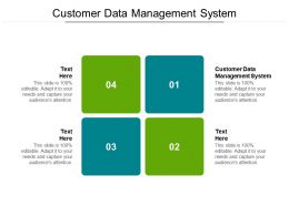 Customer Data Management System Ppt Powerpoint Presentation Picture Cpb