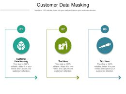 Customer Data Masking Ppt Powerpoint Presentation Inspiration Brochure Cpb