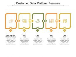 Customer Data Platform Features Ppt Powerpoint Presentation Inspiration Clipart Cpb