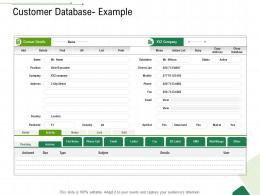 Customer Database Example Client Relationship Management Ppt Infographic Template