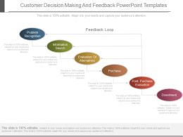 Customer Decision Making And Feedback Powerpoint Templates