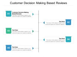 Customer Decision Making Based Reviews Ppt Powerpoint Presentation Styles Slide Cpb