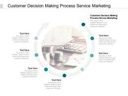 Customer Decision Making Process Service Marketing Ppt Powerpoint Slides Cpb