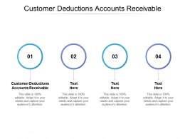Customer Deductions Accounts Receivable Ppt Powerpoint Presentation Gallery Picture Cpb