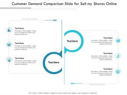 Customer Demand Comparison Slide For Sell My Shares Online Infographic Template