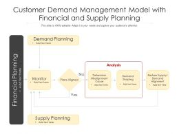 Customer Demand Management Model With Financial And Supply Planning