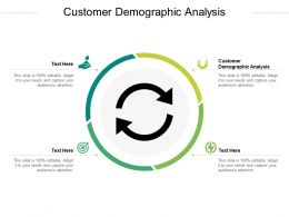 Customer Demographic Analysis Ppt Powerpoint Presentation Styles Show Cpb