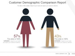 Customer Demographic Comparison Report Powerpoint Show