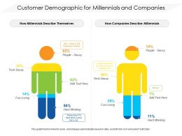 Customer Demographic For Millennials And Companies