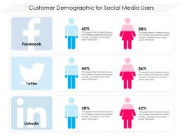 Customer Demographic For Social Media Users