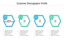 Customer Demographic Profile Ppt Powerpoint Presentation Infographic Template Diagrams Cpb