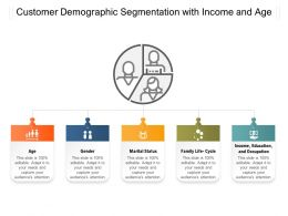 Customer Demographic Segmentation With Income And Age