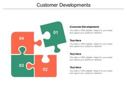 Customer Developments Ppt Powerpoint Presentation Pictures Design Ideas Cpb