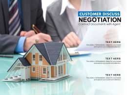 Customer Discuss Negotiation Contract Documents With Agent