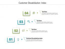 Customer Dissatisfaction Index Ppt Powerpoint Template Graphics Tutorials Cpb