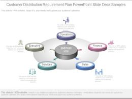 Customer Distribution Requirement Plan Powerpoint Slide Deck Samples
