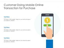 Customer Doing Mobile Online Transaction For Purchase