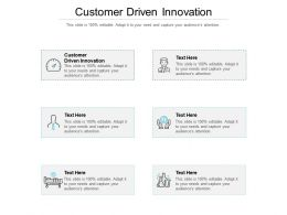 Customer Driven Innovation Ppt Powerpoint Presentation Show Slides Cpb