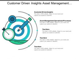Customer Driven Insights Asset Management Operational Processes Operational Efficiencies Cpb
