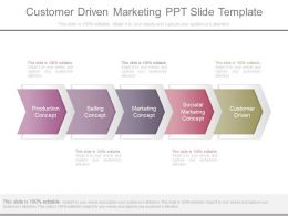 Customer Driven Marketing Ppt Slide Template