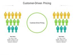 Customer Driven Pricing Ppt Powerpoint Presentation Guidelines Cpb