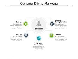 Customer Driving Marketing Ppt Powerpoint Presentation Portfolio Visuals Cpb