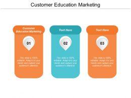 Customer Education Marketing Ppt Powerpoint Presentation Gallery Mockup Cpb