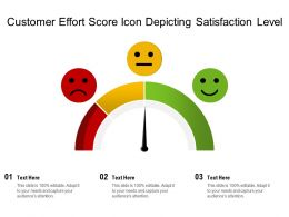 Customer Effort Score Icon Depicting Satisfaction Level