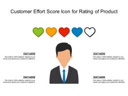 Customer Effort Score Icon For Rating Of Product