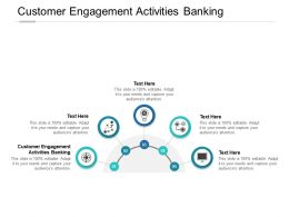 Customer Engagement Activities Banking Ppt Powerpoint Presentation Icons Cpb