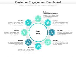 Customer Engagement Dashboard Ppt Powerpoint Presentation Styles Sample Cpb