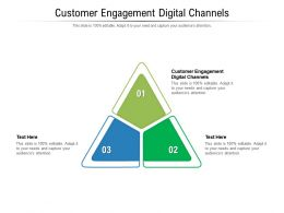 Customer Engagement Digital Channels Ppt Powerpoint Presentation Outline Objects Cpb